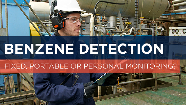 Fixed, Portable or Personal Monitoring for Benzene Detection